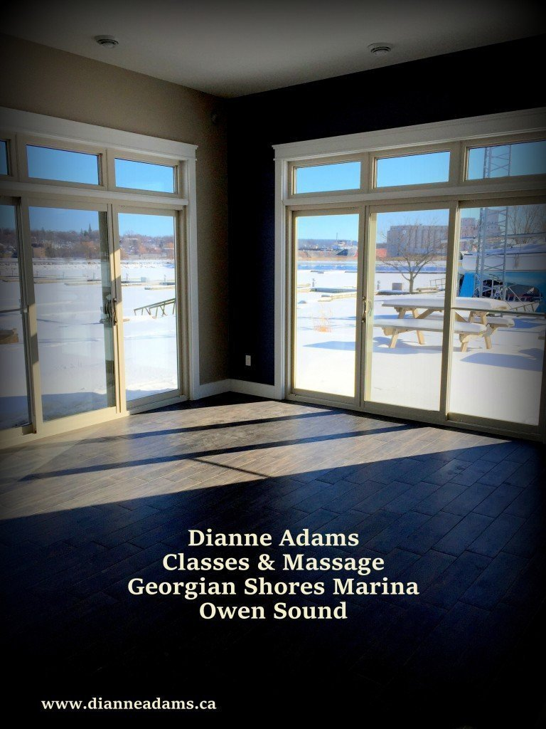 Dianne Adams offers massage, Yoga, Pilates, Core Blast and Latin inspired Dance classes
